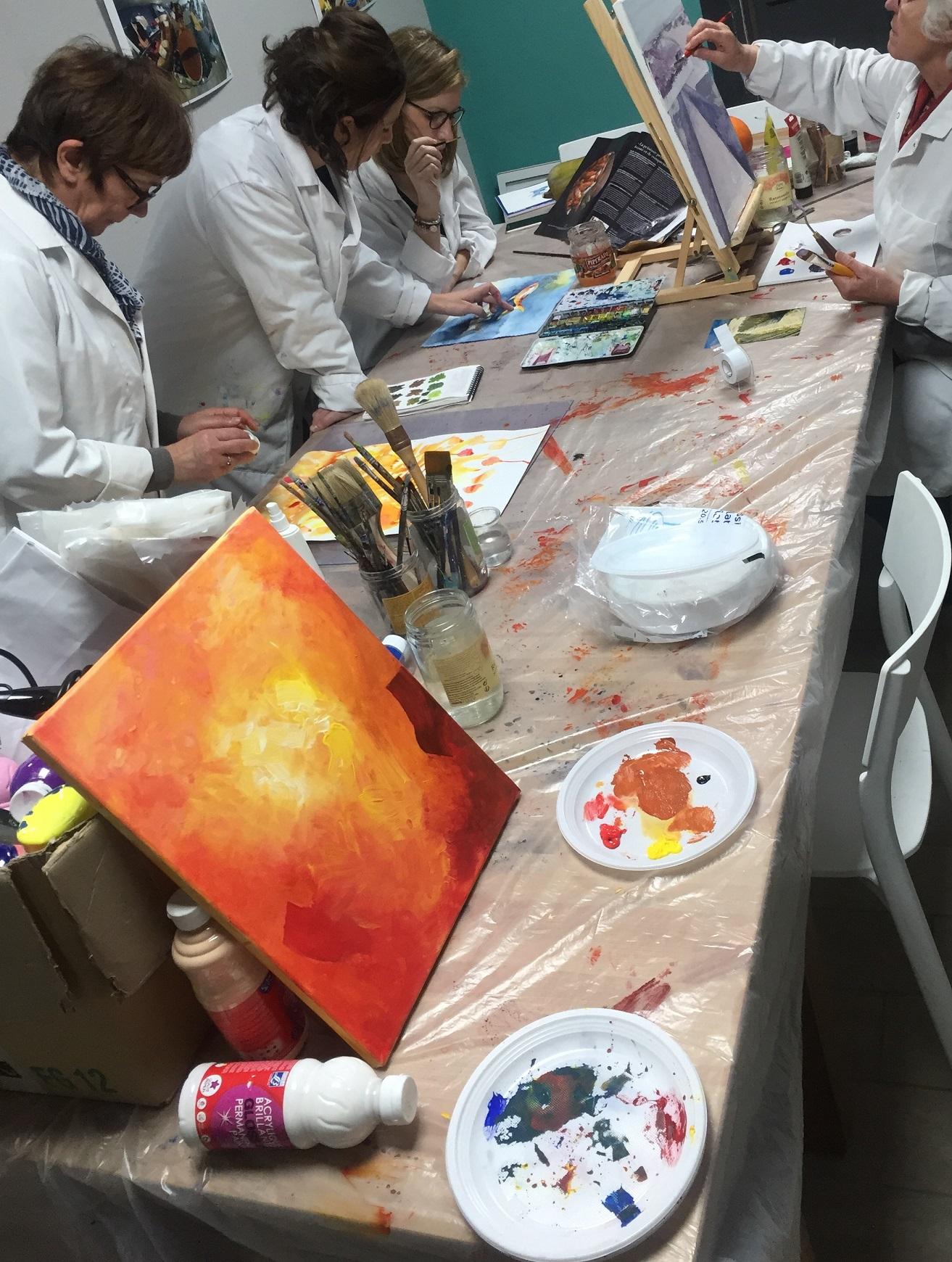 expression et création acrylique et aquarelle